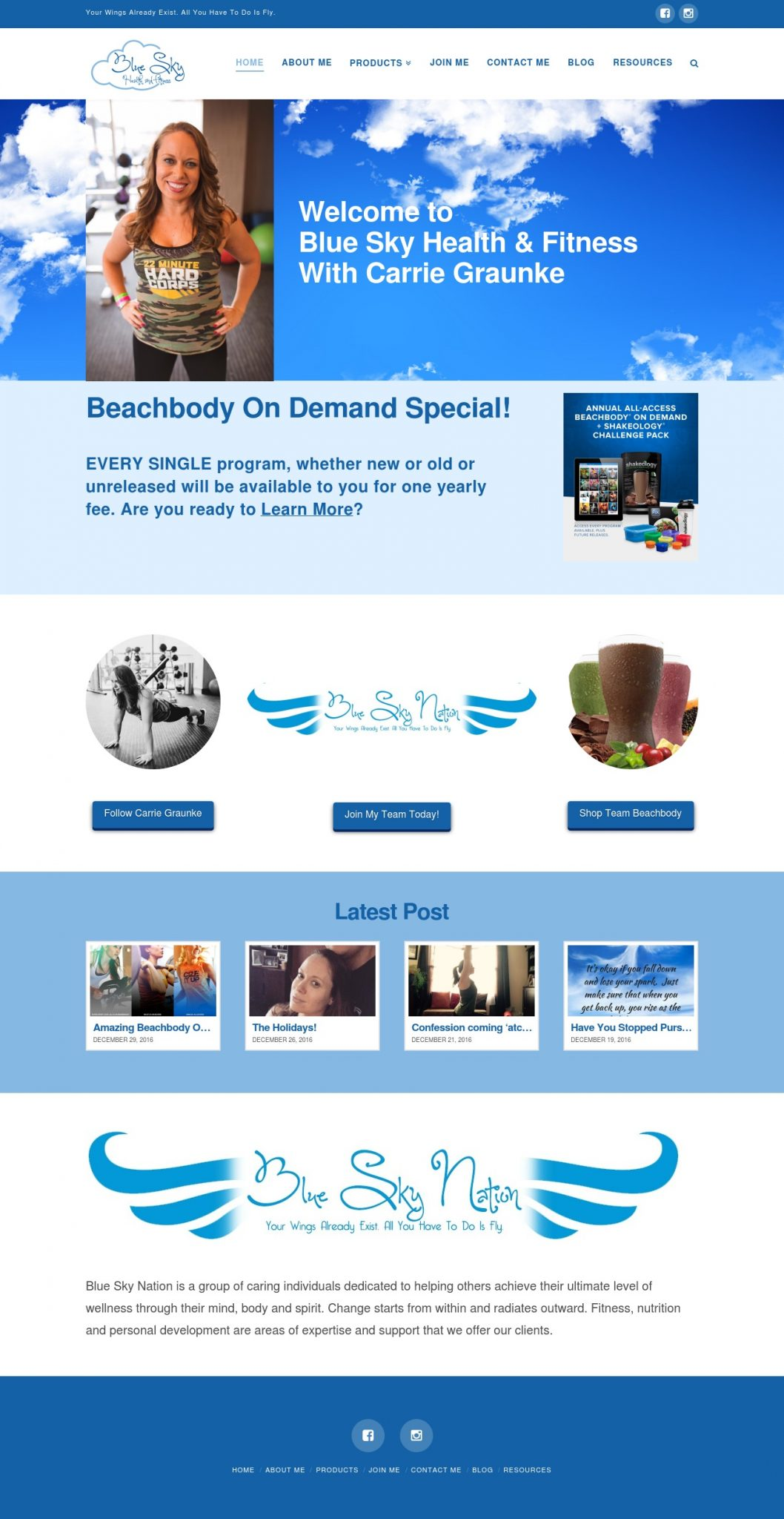 Blue Sky Health and Fitness - Website Design