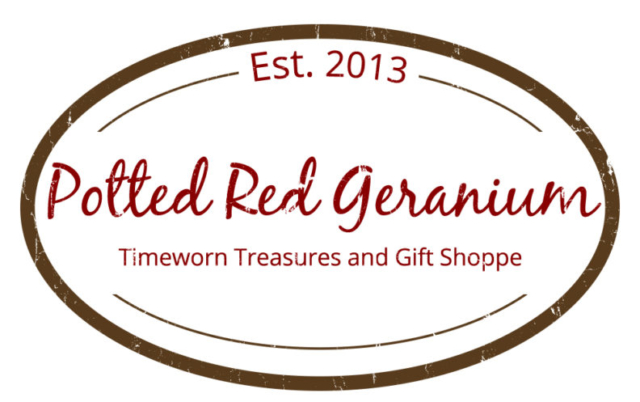 Potted Red Geranium Logo - Graphic Design