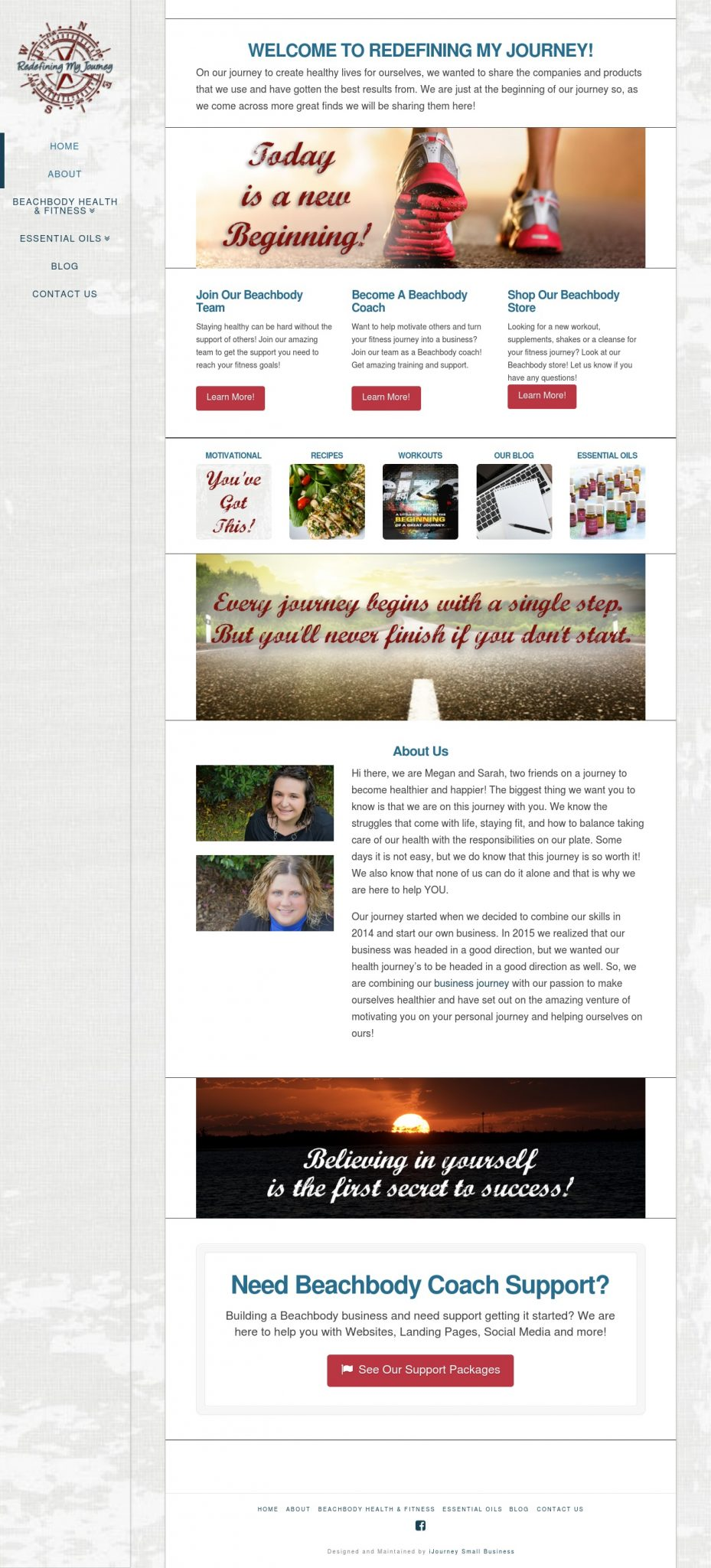 Redefining My Journey - Website Design