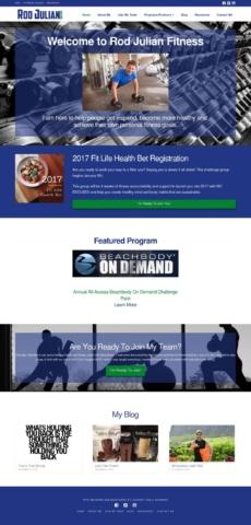 Rod Julian Fintess - Website Design