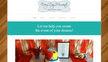 Every Day Moments website